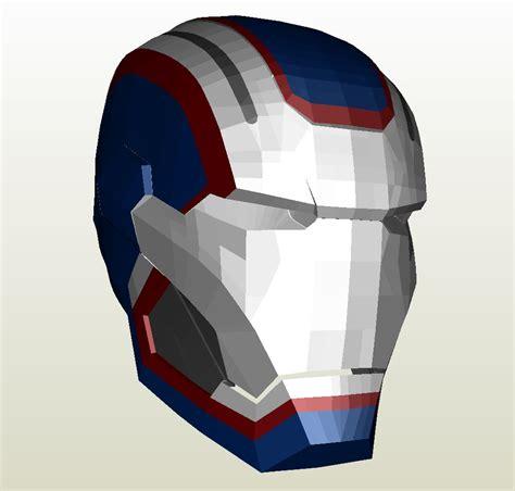 Iron Papercraft Helmet - iron iron patriot armor foam pepakura eu