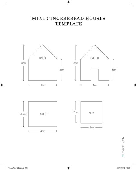 mini gingerbread house template gingerbread mini houses candis