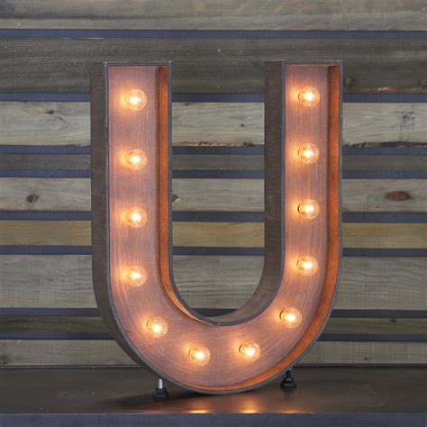 edison marquee letter quot u quot town country event rentals