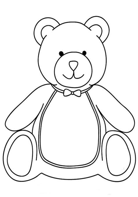 template for a teddy раскраски мишка тедди