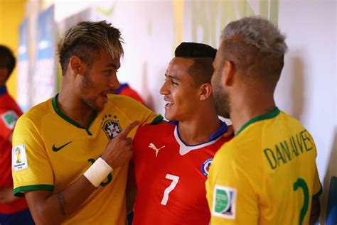 alexis sanchez neymar brazil 1 1 chile 3 2 after p k the dream goes on