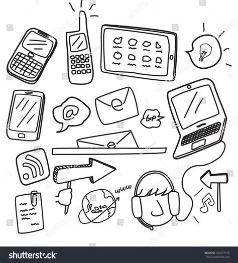 doodlebug information information technology doodle stock vector illustration