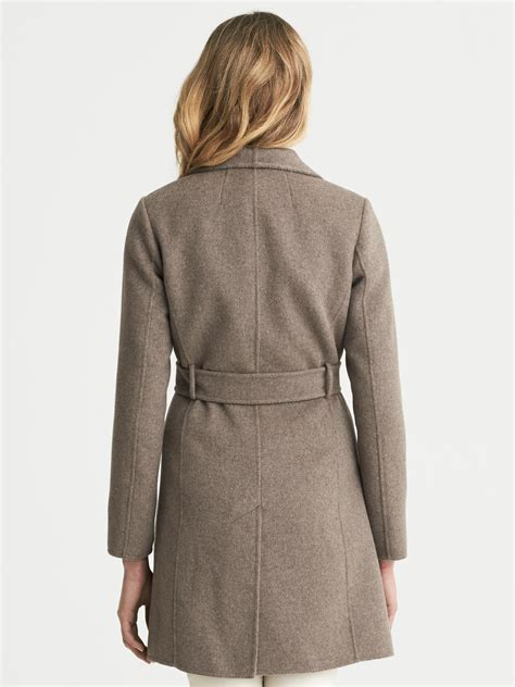 draped coats banana republic draped wool coat in gray taupe melange