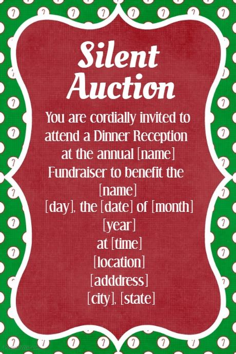 Pinkglam Auction Template 2 by Fundraiser Invitation Glitter Carpet