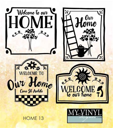 welcome home decor home svg files welcome home cuttable svg home decor svg