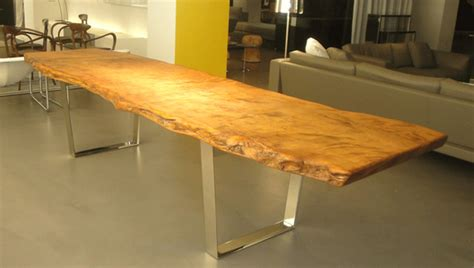 custom redwood slab table contemporary dining tables