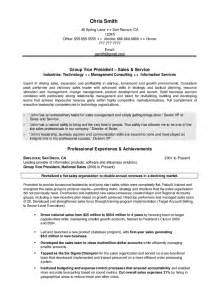 Vp Resume Sles by Executive Sales Vp Resume Hashdoc