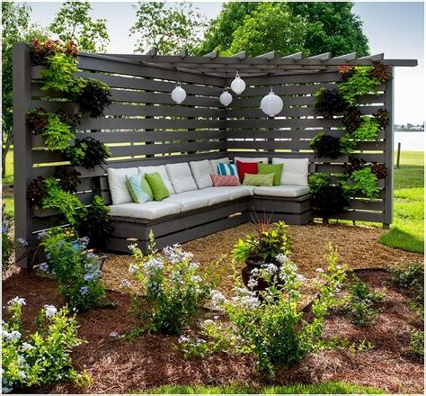 backyard privacy fence landscaping ideas on a budget 48
