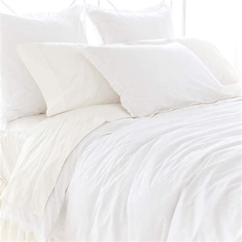 Classic Duvet Covers classic ruffle white duvet cover by pine cone hill