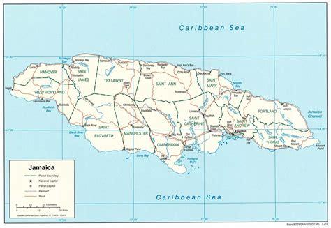 printable map of jamaica with parishes giamaica caraibi americhe paesi home unimondo
