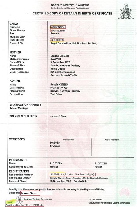 South Australian Birth Records Birth Certificate Australian Unique Student Identifier