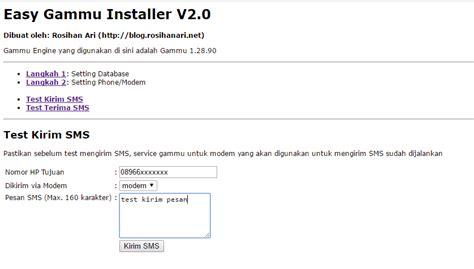 tutorial gammu php membuat sms gateway dengan gammu php dan mysql di windows