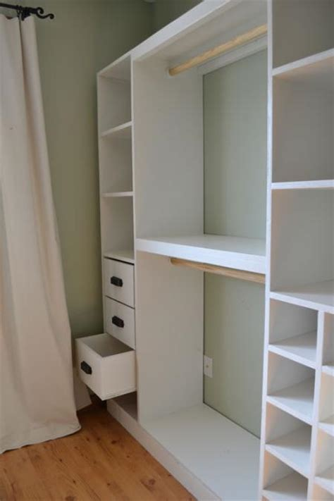 Built Out Closets by White Master Closet System Drawers Diy Projects