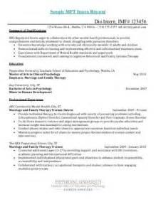 Mft Cover Letter by Sle Psychology Intern Cover Letter Pepperdine