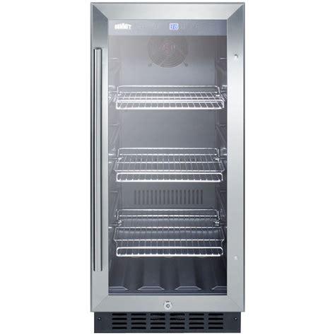 Cabinet Beverage Fridge by Summit Scr1536bg Beverage Refrigerator Black Stainless