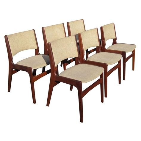 Rosewood Dining Chairs Vintage Set Of Six Midcentury Rosewood Dining Chairs By Erik Buch For Sale At 1stdibs