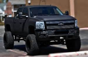 chevy painted with rhino lining big truckin