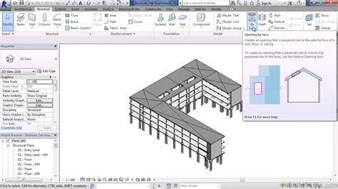 tutorial revit 2015 revit structure 2015 tutorial structure tab foundation