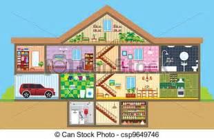Build My House Online Clip Art De Vectores De Casa Corte Vector Ilustraci 243 N