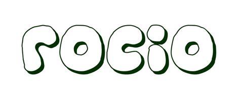 Imagenes Que Digan Rocio | dibujo para colorear nombre roc 237 o
