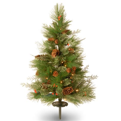 18 inch battery lit christmas tree national tree company 30 quot decorative collection white pine pathway tree with battery operated