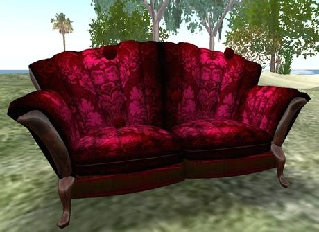 velvet couch clothing second life marketplace usagui red velvet sofa oberisk