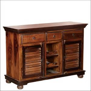 solid wood sideboards and buffets shaker buffet wine rack solid wood 3 drawer sideboard