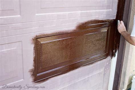Garage Door Makeover Diy by Update Your Garage Door With Gel Stain