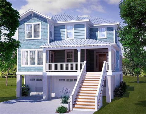 design home restart four bedroom beach house plan 15009nc architectural