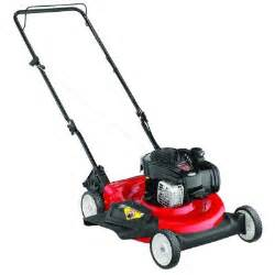 home depot lawnmowers yard machines 21 in 140 cc gas walk lawn mower 11a
