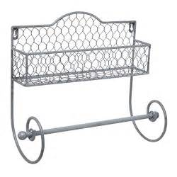wire paper towel holder wall mounted rustic gray metal wire kitchen spice rack