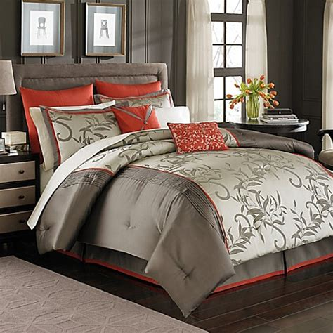 manor hill 174 mirador 8 piece complete comforter set bed