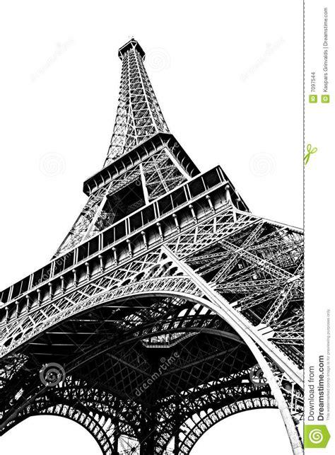 imagenes de la torre eiffel en blanco y negro torre eiffel aislada en blanco imagenes de archivo