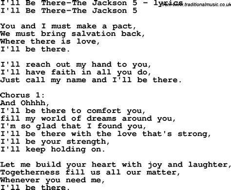 song lyrics for i ll be there the jackson 5