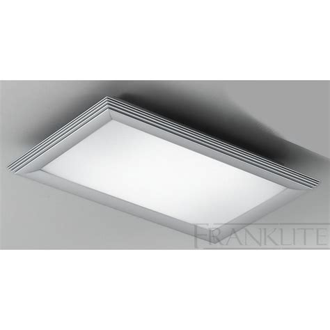 cf5651el rectangular flush 2 ceiling light glass silver