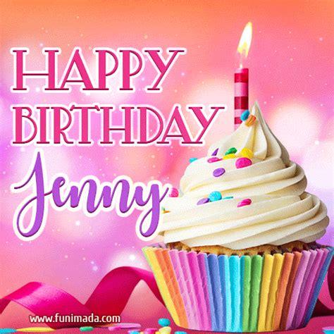 happy birthday jenny lovely animated gif   funimadacom