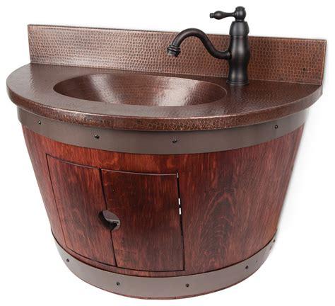 Wine Barrel Sink Vanity by Wall Mounted Wine Barrel Vanity And Faucet Package