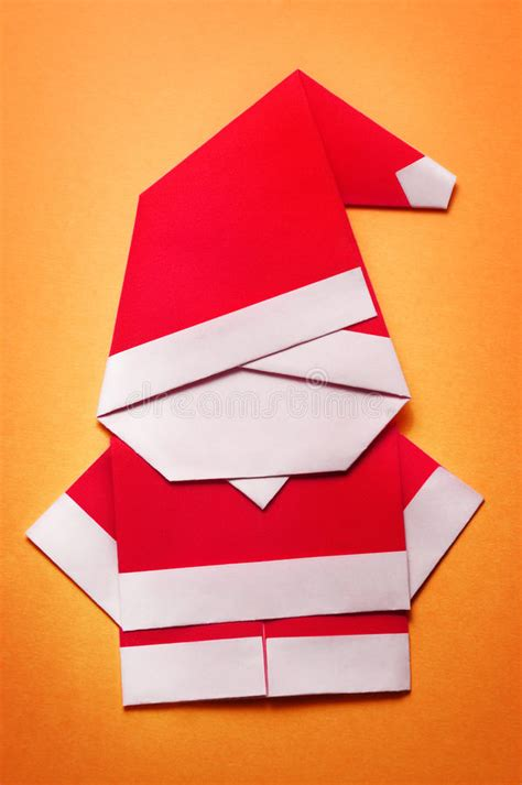 origami santa claus paper craft stock illustration