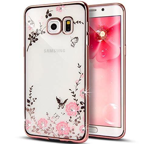 Samsung J5prime Soft Flower Swarovski Iring secret garden haotp luxury butterfly floral flower diamonds shiny plating frame plating