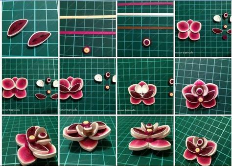 How To Make Paper Quilling Flowers - diy paper quilling flower tutorial step by step step