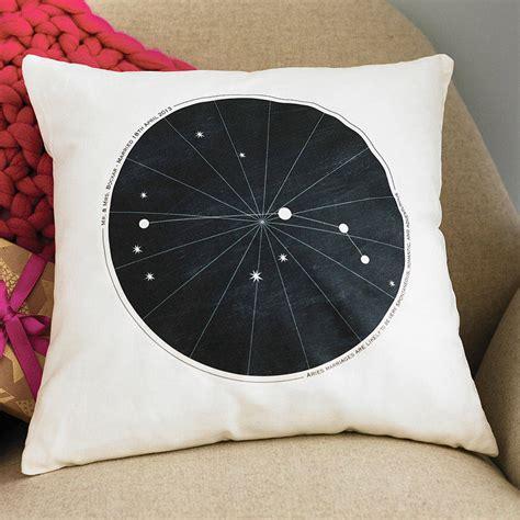 Wedding Zodiac by Personalised Wedding Zodiac Cushion By Modo Creative