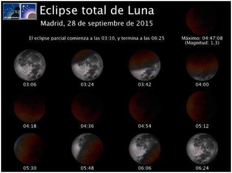 eclipse de luna en mes de septiembre del 2016 el eclipse lunar en el planetario de madrid