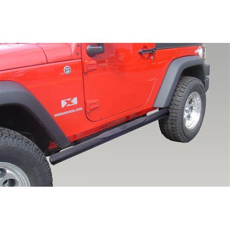 2002 Jeep Wrangler Side Steps Oval Side Steps 4 1 4 Inch Black 07 16 Jeep