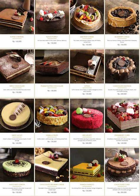 Daftar Menu Coffee Toffee Surabaya daftar harga kue the harvest cakes maret 2018 cara order