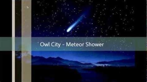 Owl City Meteor Shower by Owl City Meteor Shower Lyrics Glee Tv Show