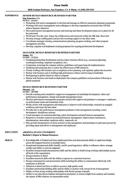 Human Resource Business Partner Resume Sles Velvet Jobs Human Resources Business Partner Resume Templates