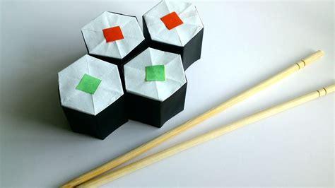 Origami Sushi Rock - diy origami sushi rolls paper sushi rolls my crafts