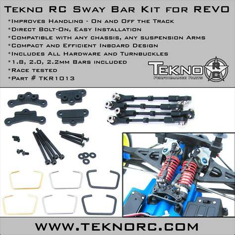 tekno rc sway bar kit revo tkr1013 tekno rc swaybar kit for revo