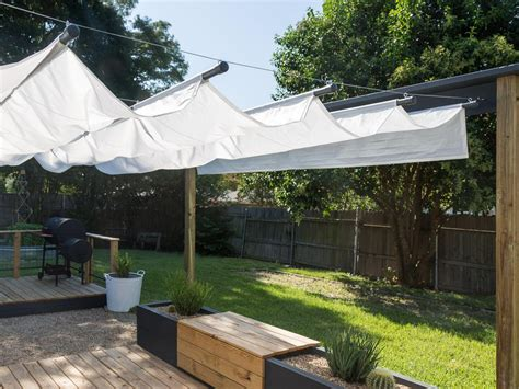 make your own retractable awning how to build an outdoor canopy hgtv