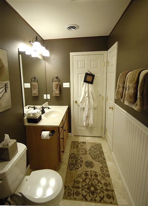 Brown Wainscoting by 1000 Ideas About Bathroom Colors Brown On